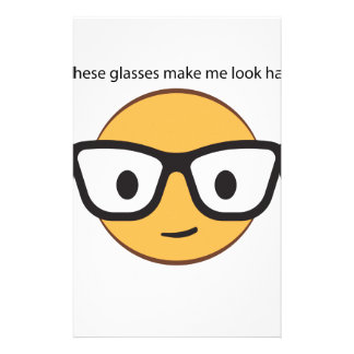 Do these glasses make me look happy? (yep!) stationery design