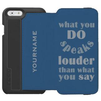 Do vs. Say custom monogram wallet cases Incipio Watson™ iPhone 6 Wallet Case