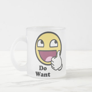 Do Want Awesome Face Smiley Coffee Mug