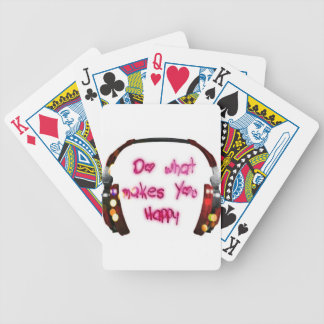 do what makes u happy bicycle playing cards