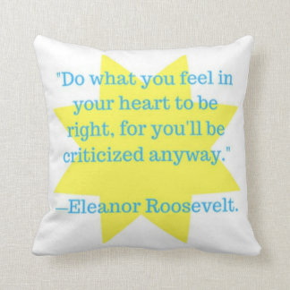 do what you feel throw pillow
