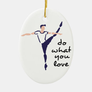 Do What You Love Ceramic Oval Ornament
