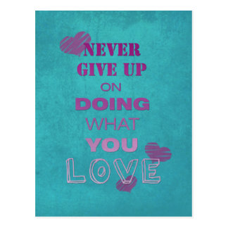 Do what you love motivational text typography postcard