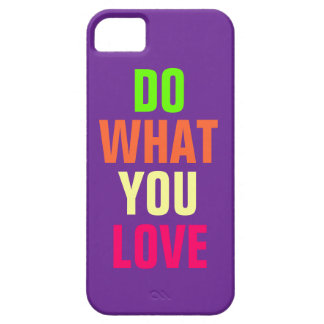 Do What You Love, purple background iPhone 5 Case For The iPhone 5