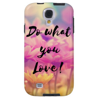 """Do what you Love"" Typography Quote Purple Flowers"