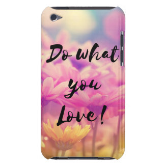 """""""Do what you Love"""" Typography Quote Purple Flowers Barely There iPod Cover"""