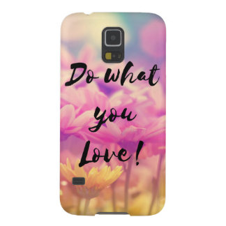 """Do what you Love"" Typography Quote Purple Flowers Cases For Galaxy S5"