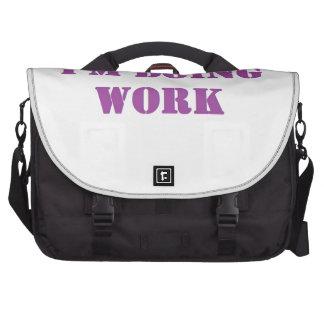 Do work- Purple Laptop Messenger Bag