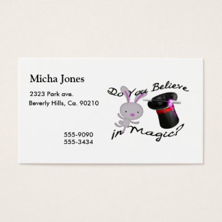 Do You Believe In Magic Top Hat & Rabbit Business Card