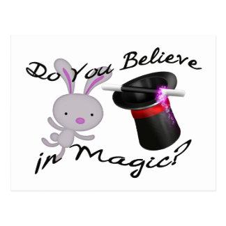 Do You Believe In Magic Top Hat & Rabbit Postcard