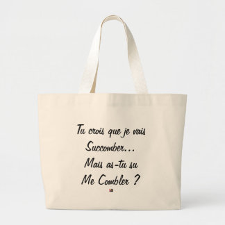 do you believe that I will succumb but known ace Large Tote Bag