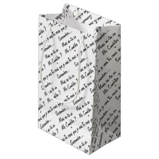 do you believe that I will succumb but known ace Small Gift Bag