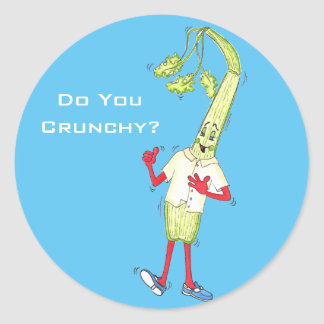 'Do You Crunchy' Glossy Round Sticker