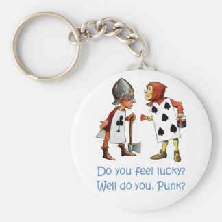 DO YOU FEEL LUCKY, WELL, DO YOU PUNK? KEYCHAIN
