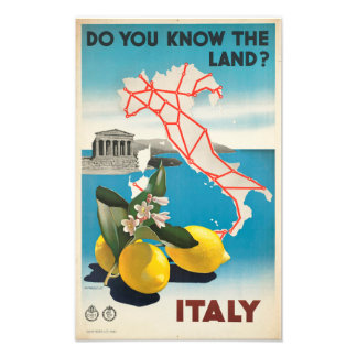 Do You Know The Land? Italy Photo Print