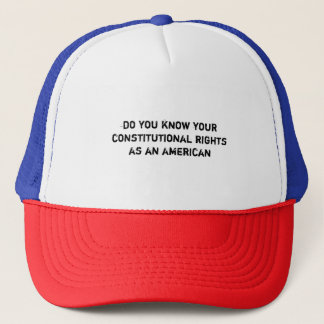 do you know your constitutional rights  ball cap