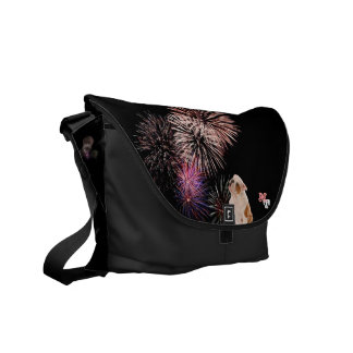 Do you Love Bulldogs? They Like Fireworks Too! Commuter Bag
