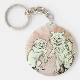 Do You Mind? Cat Artwork by Louis Wain Keychain