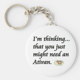 Do You Need an Ativan? Basic Round Button Keychain