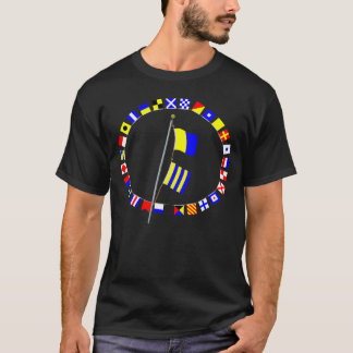 Do you require a tug? Nautical Signal Flag Hoist T-Shirt