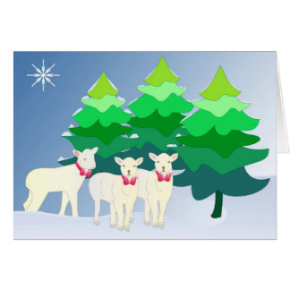 Do you see little sheep? card