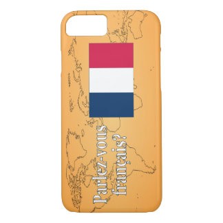 Do you speak French? in French. Flag wf iPhone 7 Case