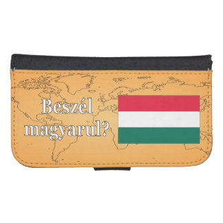 Do you speak Hungarian? in Hungarian. Flag wf Samsung S4 Wallet Case