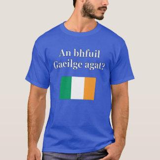 Do you speak Irish? in Irish. Flag T-Shirt