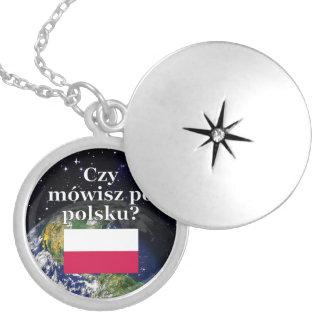 Do you speak Polish? in Polish. Flag & Earth Locket Necklace
