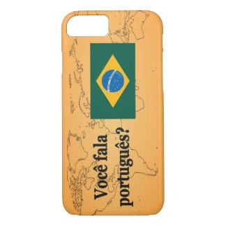 Do you speak Portuguese? in Portuguese. Flag bf iPhone 7 Case