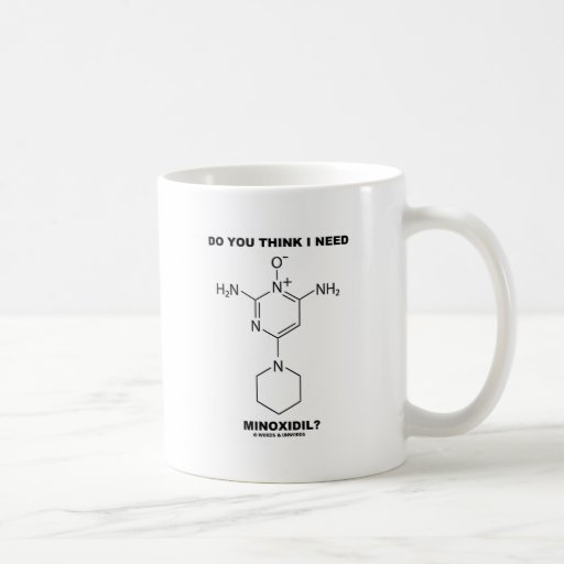 Do You Think I Need Minoxidil? (Chemical Molecule) Coffee Mugs