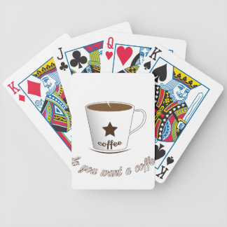 Do you want a coffee bicycle playing cards