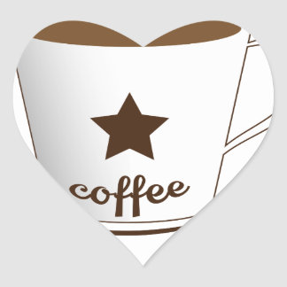 Do you want a coffee heart sticker