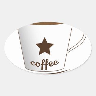 Do you want a coffee oval sticker