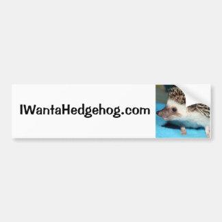 Do You Want a Hedgehog? Bumper Sticker