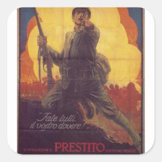Do you whole duty  Propaganda Poster Square Sticker