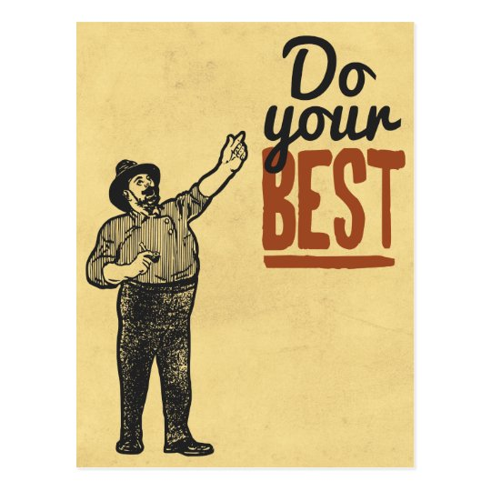 Do your BEST - Vintage style motivational Postcard