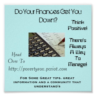 Do Your Finances Get You Down? Poster