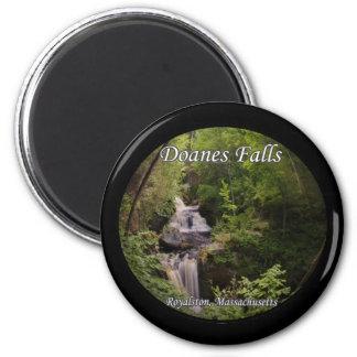 Doanes Falls - Royalston, Massachusetts 2 Inch Round Magnet