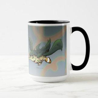DOB ALIEN CARTOON Ringer Mug