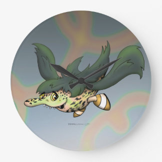 DOB MONSTER CUTE CARTOON CLOCK Round (Large)