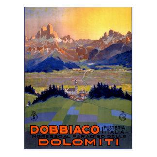 Dobbiaco Toblach Italy Vintage Travel Poster Postcard