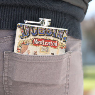 Dobbins' medicated toilet soap flasks