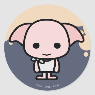 Dobby Cartoon Character Art Classic Round Sticker