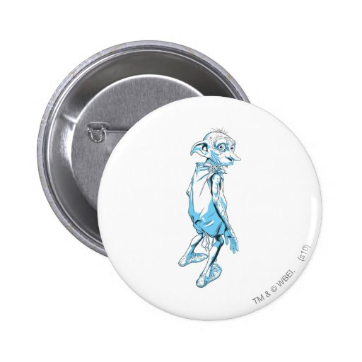 Dobby Looking Over 1 Pinback Button