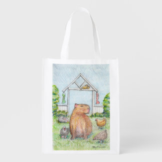 Dobby the capybara shopping bag market totes