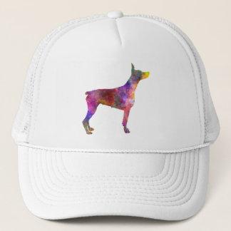 Doberman 01 in watercolor 2 trucker hat