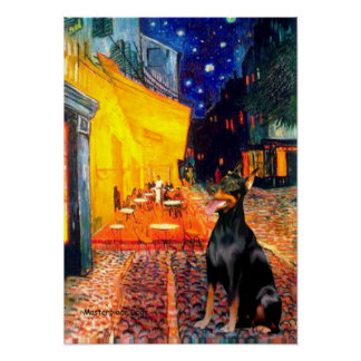 Doberman 1 - Terrace Cafe Poster
