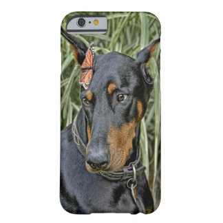Doberman Butterfly Surprise Barely There iPhone 6 Case