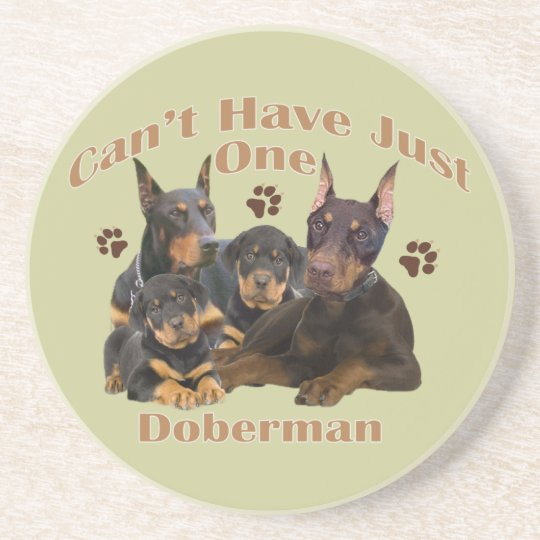 Doberman Can't Have Just One Coaster